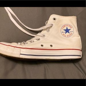 White High-Top Converse Sneakers